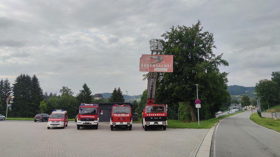 FF Kreuzberg - Wissenstest 2020 - Fahrzeuge der FF Freyung