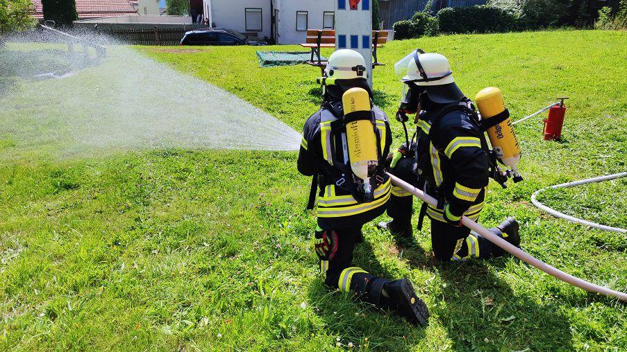 FF Kreuzberg - Aktionstag - Atemschutz im Einsatz