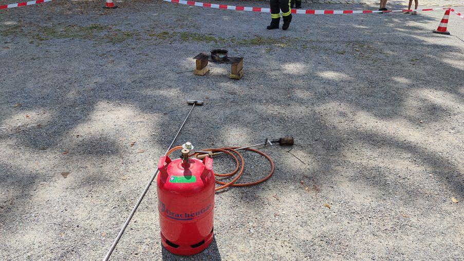 FF Kreuzberg - Aktionstag - Aufbau Fettbrand