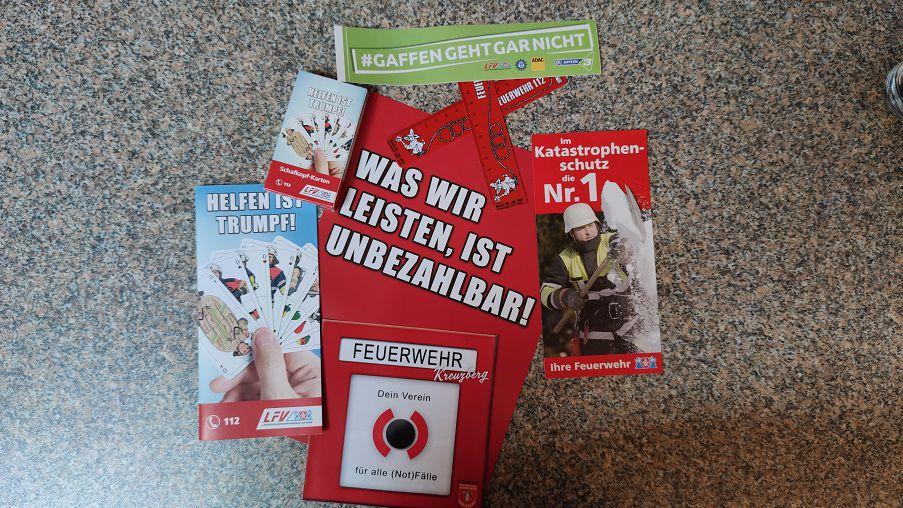 FF Kreuzberg - Aktionstag - Werbematerial LFV Bayern