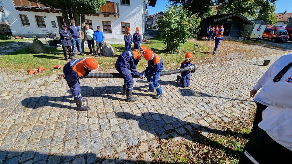 FF Kreuzberg - Jugendleistungsprüfung 2021 - Saugschlauchkuppeln