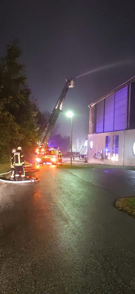 FF Kreuzberg - Gemeinschaftsübung Brandschutzwoche 2021 - Drehleiter